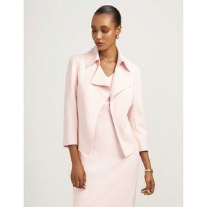 Anne Klein Twill Wide Collar Jacket